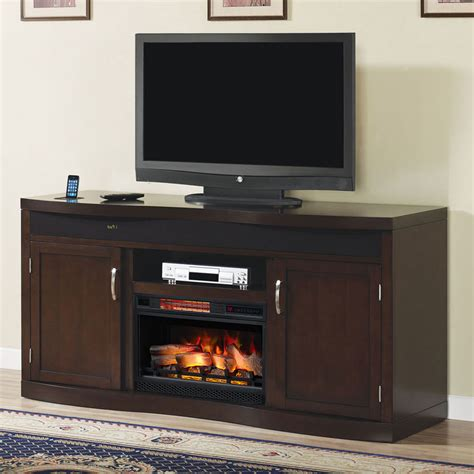 endzone electric fireplace entertainment center in