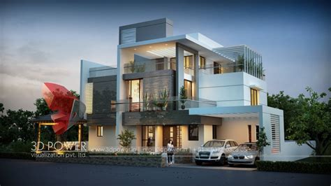 3d front elevation com 60 x 100 wapda town 1 kanal 3d ultra modern day and night rendering and elevation