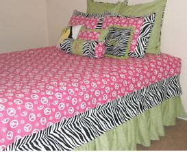 hot pink and lime green comforter sets girls lime green and hot pink peace sign zebra bedding set
