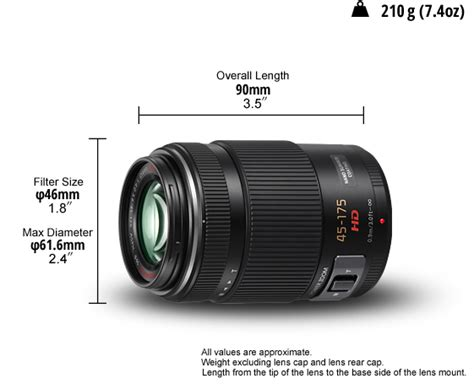 Panasonic Lumix G X Vario Pz 45 175mm F 4 5 6 Asph Power O I S 1 panasonic lumix g x vario pz 45 175mm f4 0 5 6 asph power o i s zoom lens h ps45175