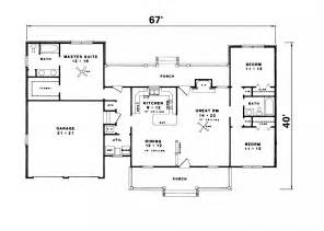 Ranch Homes Floor Plans simple ranch house plans with garage house of samples