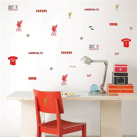 liverpool wall stickers liverpool fc wall stickers 3o pieces official football new ebay