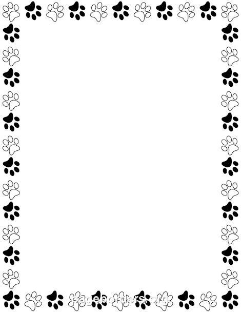 printable poster borders black and white paw print border davia pinterest