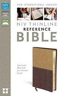 niv thinline bible print imitation leather brown letter edition comfort print books niv thinline reference bible imitation leather