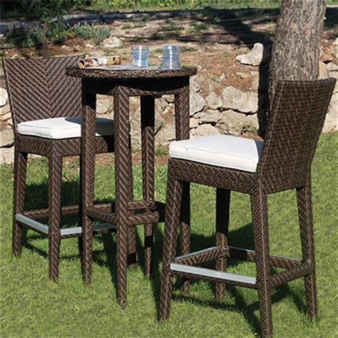 High Bistro Table Set Outdoor Rattan Furniture Outdoor Bistro Set Rattan Bar Stool High Chairs And Table Outdoor Furnitures