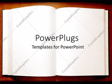 Powerpoint Template An Open Book With Blank Pages As A Metaphor On A Brown Background 10946 Book Template For Powerpoint