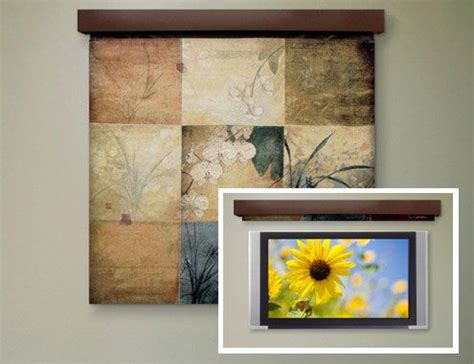 Versteckter Fernseher by Tapestry To Hide A Tv Could Probably Use A Window Shade
