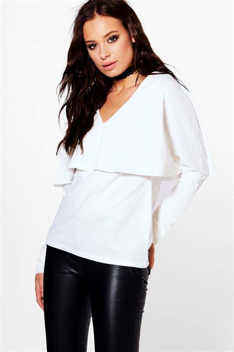 Sleeve Layer Top boohoo womens penelope layer sleeve top ebay
