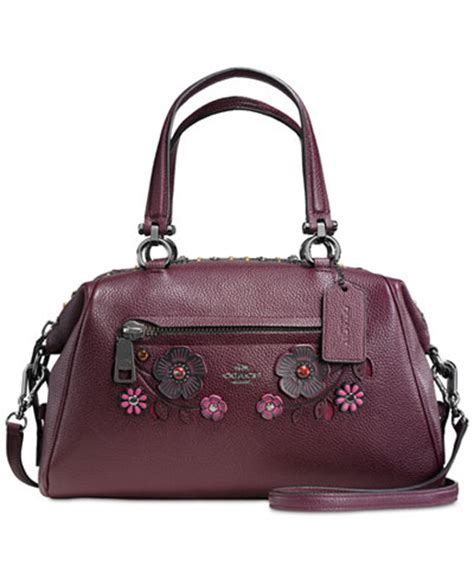 Coach Bag Macys by Coach Willow Floral Primrose Satchel In Pebble Leather Handbags Accessories Macy S