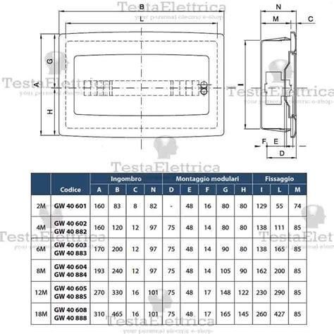 cassette elettriche da incasso gewiss gw40603 centralino ip40 6 moduli portello fum 232 per