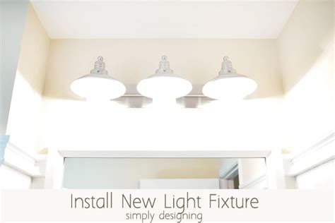 install a new bathroom light fixture install a new bathroom light fixture