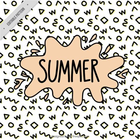 memphis pattern ai memphis summer pattern vector free download