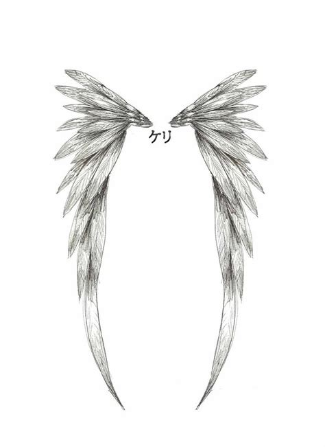 collection of 25 angel wings tattoo