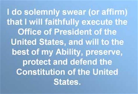 President Oath Of Office by Presidential Inauguration Or Inauguration Day