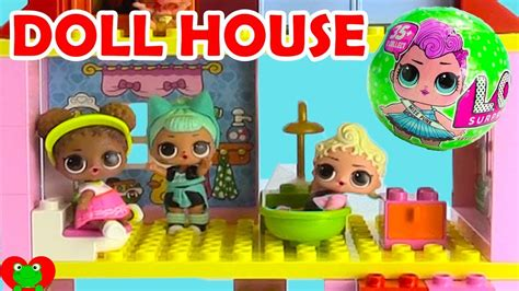duplo doll house lol surprise dolls lego duplo doll house build and surp doovi