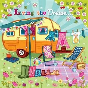 Porch Awnings For Caravans Blank Greeting Card Birthday Card Caravan Holidays