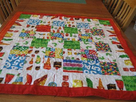 quilt pattern very hungry caterpillar the very hungry caterpillar quilt crib size quilt from the