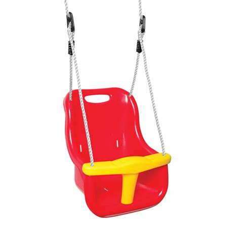 toddler swing seat swing slide climb baby swing seat plastic red bunnings