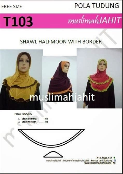 tutorial jahit turban pola shawl butterfly google search fesyen pinterest