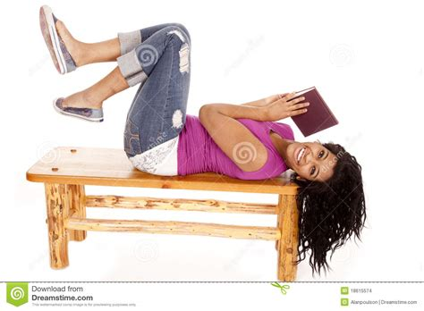 lay bench african american lay bench book stock images image 18615574
