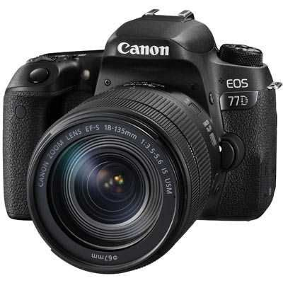 canon eos 77d digital slr camera with 18 135mm is usm lens