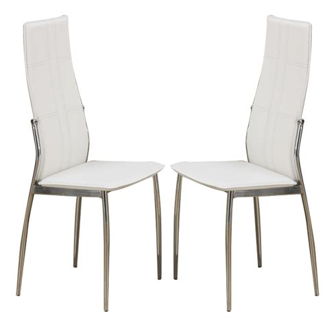 leather dining room chairs with metal legs set of 2 modern dining side chairs chair metal frame legs