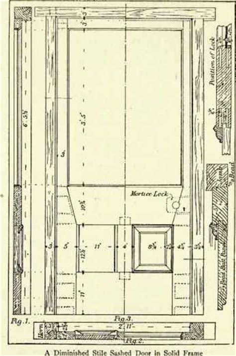 door plan elevation and section panelled door drawing section elevation technical drawing