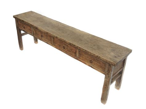 Antique Large Console Table With Drawers Natural Color Large Sofa Tables