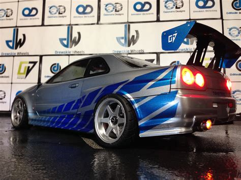 nissan r34 paul walker custom nissan r34 skyline gtr oak man designs