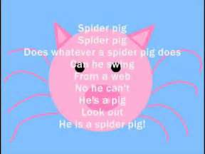 homer simpsons spiderpig lyrics