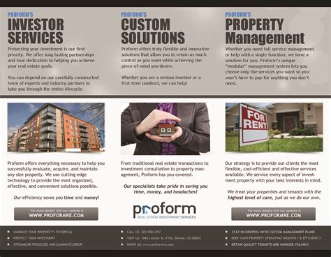 proform real estate investment services proform summary brochure proform real estate