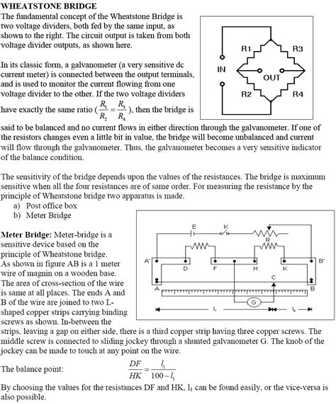 wheatstone bridge notes wheatstone bridge notes 28 images cbse class 12th physics notes current electricity part ii
