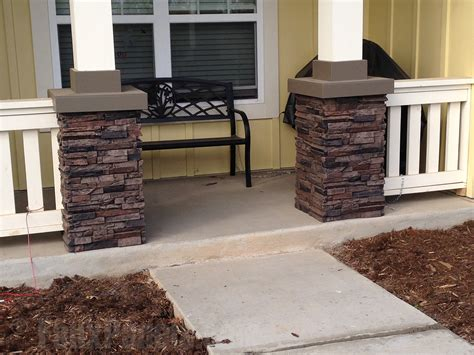 Wrap Around Porch Homes faux stone column wraps for added style creative columns