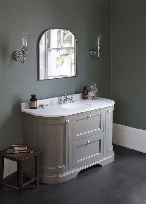 curved vanity unit bathroom add a touch of colour with our dark olive curved vanity