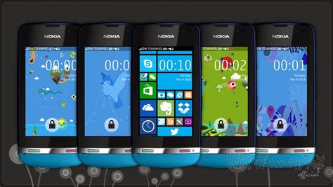 nokia 311 all themes fake windows phone 8 series theme asha 310 305 full touch