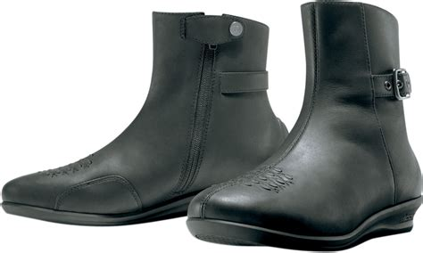 low top motorcycle boots icon s sacred low motorcycle boot black