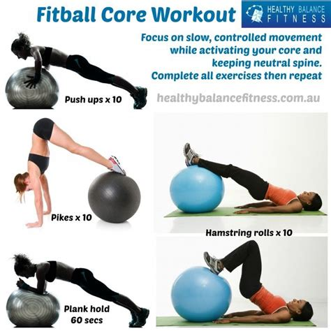 images  fitball workout  pinterest abs