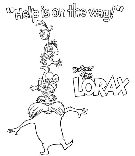 The Lorax Bears Coloring Pages by Lorax Coloring Pages Barbaloot Coloringstar