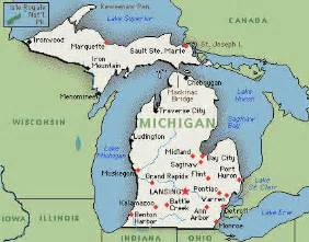 Michigan Map Cities by Michigan Map