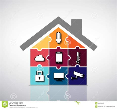 home automation smart house stock vector image 60400267
