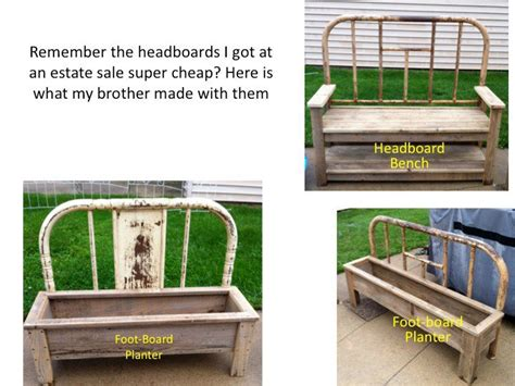 making a bench from a headboard how to make a bench and planter from old bed frames flea market gardening