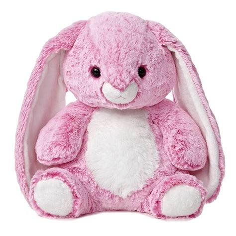 14 quot aurora plush pink bunny candy cuddle easter rabbit