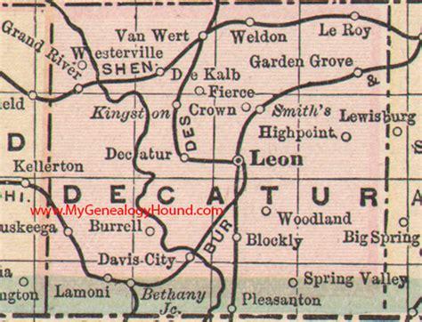 Garden Grove Iowa Map Decatur County Iowa 1905 Map