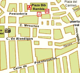 granero dress code map of the centre of granada gran via