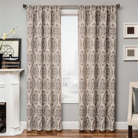 damask drapes azure damask curtain panel available in 6 color choices