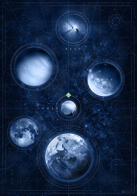 destiny maps doaly s obsession with bungie s destiny pays with a pristine print map of the heaven