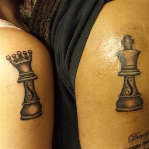 king and queen chess piece tattoos 25 best chess ideas on