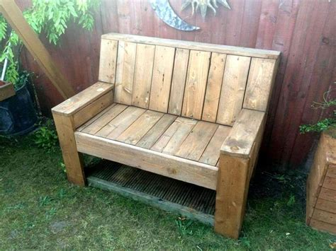 bench made of pallets pallet garden bench diy 101 pallet ideas