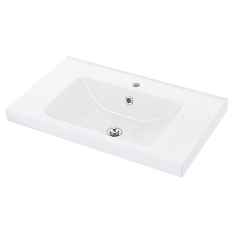 Ikea Rattviken Wastafel Single 80x49x6 Cm Odensvik Single Wash Basin 80x49x6 Cm Ikea