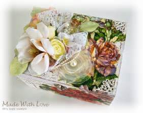 Wedding Box Decoupage by Shabby Chic Decoupage Wedding Wooden Jewelry Box